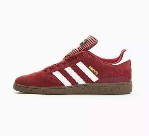 adidas Busenitz Men's Trainers Shoes Sneaker Burgundy White Gum Size UK9 C75230